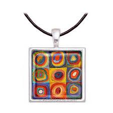 art glass necklace images Kandinsky circles art glass necklace jpg