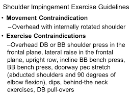 Bench Press Shoulder Impingement Orthopedic Conditions And Corrective Exercises Ppt Online