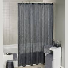Sheer Shower Curtains Royce Semi Sheer Striped Shower Curtain