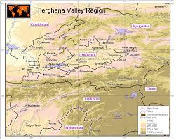 Bishkek Map Ferghana Valley Elevation Map Kazakhstan Reliefweb