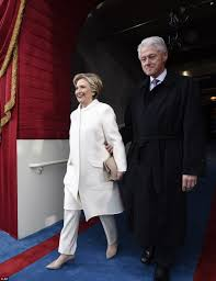 where does hillary clinton live hillary clinton in white pantsuit for trump inauguration daily