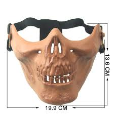 halloween horror live cs protective mask half face warrior armor
