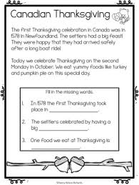 canadian thanksgiving math and literacy activities k 3 tpt