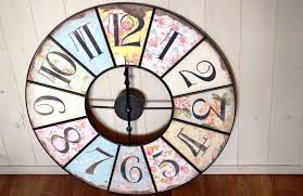 large shabby chic iron floral wall clock chicy rachael