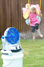 battery operated misting fan arctic cove 18v bucket top misting fan review water hose battery