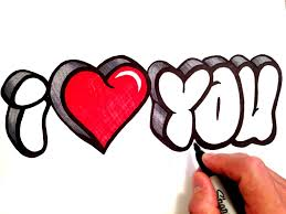 how to draw i love you in 3d bubble letters youtube