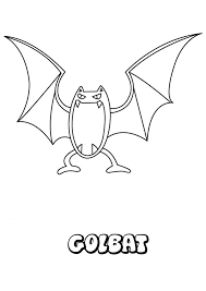 golbat coloring pages hellokids com