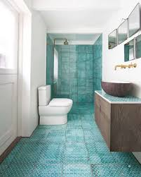 blue and beige bathroom 17 bathroom tile ideas that are anything but boring freshome com
