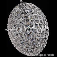 egg shaped crystal ball iron chandelier modern minimalist
