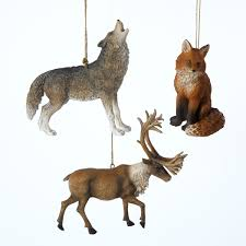 resin wolf reindeer fox ornaments item c7195