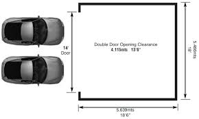 dimensions of two car garage beautiful 19 garage size for one car