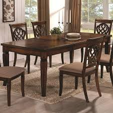 amazon com coaster home furnishings transitional dining table