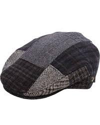 Patchwork Cap - mucros weavers tweed patchwork cap black grey