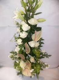 d coration florale mariage composition florale blanc vert composition florale mariage