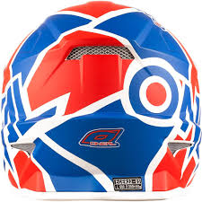 oneal motocross helmets neal 3 series radium 2017 red blue white motocross helmet