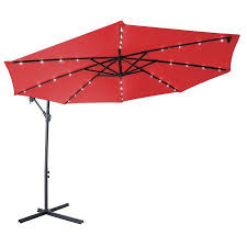 offset patio umbrella with led lights deluxe polyester offset patio umbrella with led lights 10 by