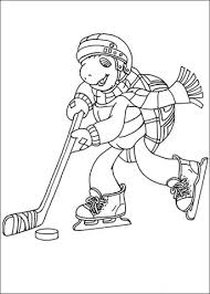 franklin plays hockey coloring free printable coloring pages