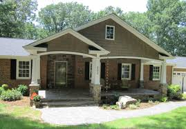 exterior modern brick paint house design with yard plan full size