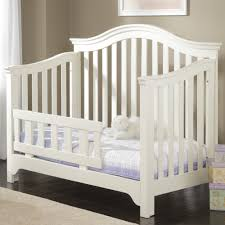Baby Crib Convertible To Toddler Bed Creations Mesa Convertible Crib In White