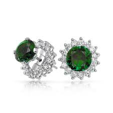 earring jackets 925 sterling silver color cz studs and removable earring jackets