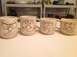 Interesting Mugs by Face Mugs Project Ceramics Fun Will Work For Clay Pinterest