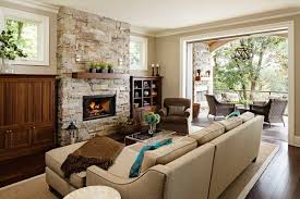 Fresh Style Living Room Decoratin Ideas With Black Leather Sofa - Leather chair living room