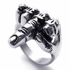 cool rings for men 2018 hot cool unique jewelry mens biker middle finger up cool men