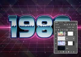 tutorial photoshop cs5 membuat logo how to create 80s text effect in adobe photoshop free adobe