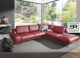 canapé cuir et tissu sublime canapé d angle chauffant design aslan supreme cuir ou tissu