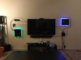 Cool Room Setups This Home Theater Setup Makes Exposed Wires Look Cool