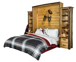 rustic hickory queen murphy bed
