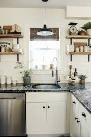 modern farmhouse kitchen with white cabinets modern farmhouse kitchen makeover reveal micheala diane