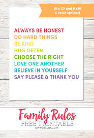 Family House Rules Family House Rules Print Give Please A Chance Lil U0027 Luna