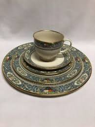 lenox china autumn 5 place setting gold st ebay