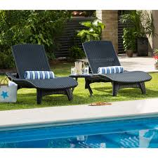 keter outdoor chaise lounge set of 2 hayneedle