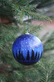 painted glass ornament by artisancolorado on etsy