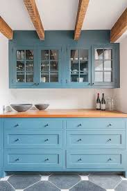 blue kitchen cabinets with wood countertops kitchen cabinet design kitchen trends farmhouse