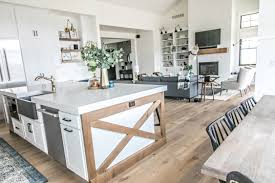 farmhouse island kitchen smi modern farmhouse kitchen and dining nook sita montgomery