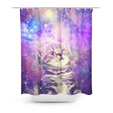 Graphic Shower Curtains by Trippin U0027 Kitty Kat Shower Curtain Shelfies