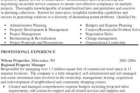 Sample Resume For Property Manager by Property Manager Resume Job Description Sample Property Manager