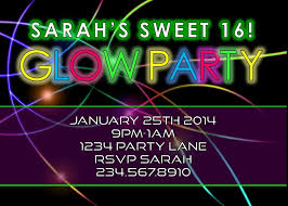 glow in the birthday party glow birthday party invitations best party ideas