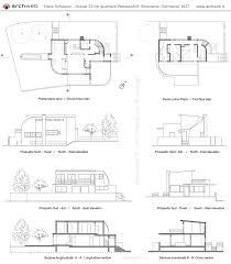 hans scharoun house 33 weissenhof dwg drawings 設計資料