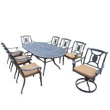 11 Piece Patio Dining Set - 8 9 person umbrella patio dining furniture patio furniture