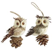 stunning white owl decorations feather ornaments