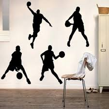 basketball wall stickers 23x60cm 5091 playing basketball wall stickers 23x60cm 5091 playing