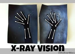 kids learn about skeletons and x rays while making their own x ray