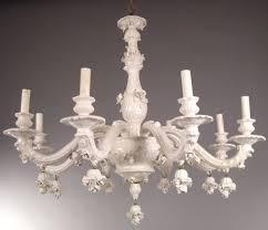 porcelain chandelier roses italian white porcelain blanc de chine chandelier at 1stdibs