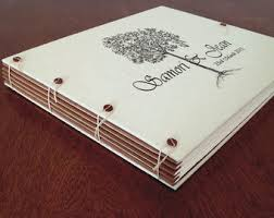 personalized wedding album boho wedding guest book or photo album vintage floral wreath