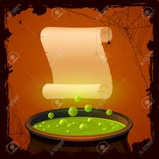 halloween background free clipart halloween background with witches cauldron and paper illustration