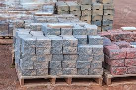 Patio Paving Stones by Patio 5 21856998 Stacks Of Various Colored Concrete Pavers